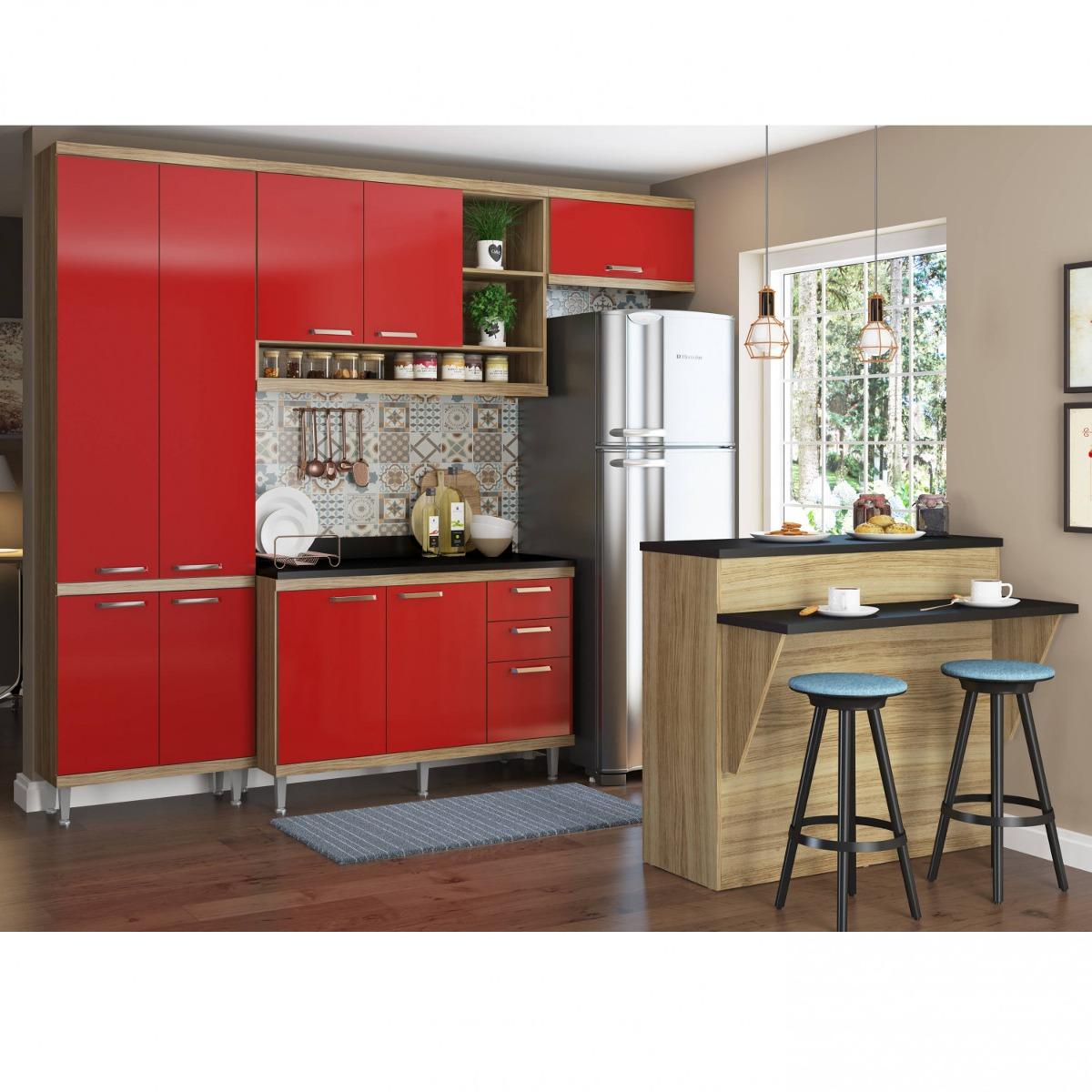 Cozinha Completa Com Bancada E Balc O Com Tampo 6 Fb R 1 979 90