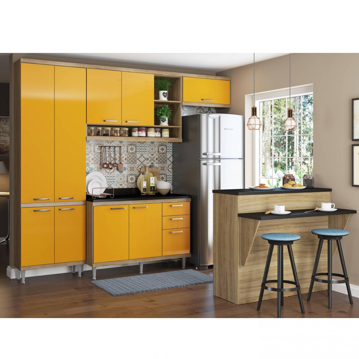 Cozinha Completa Com Bancada E Balc O Com Tampo 6 Fcwt R 1 900 70