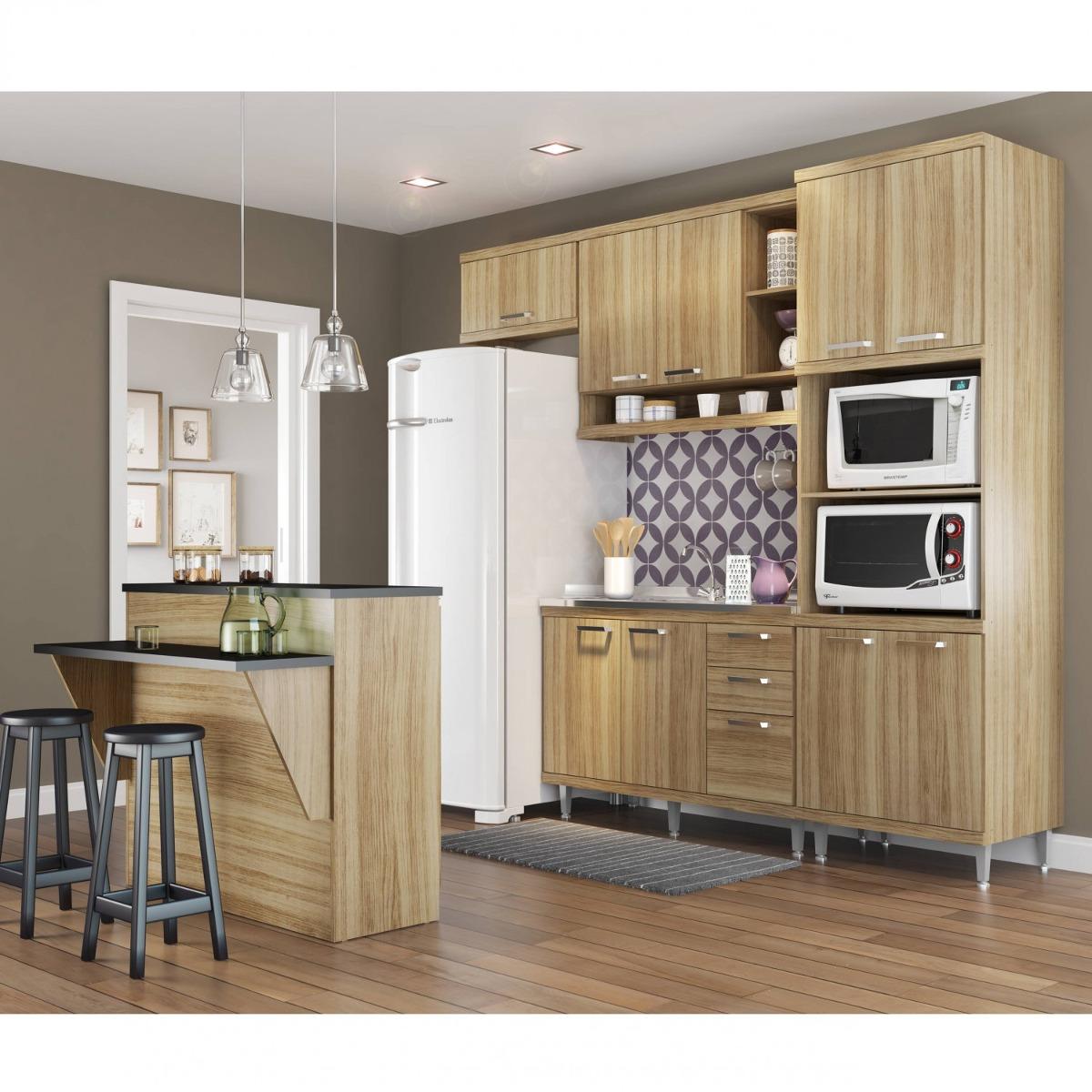 Cozinha Completa Com Bancada E Balc O Sem Tampo 5 Dcwt R 1 804 70