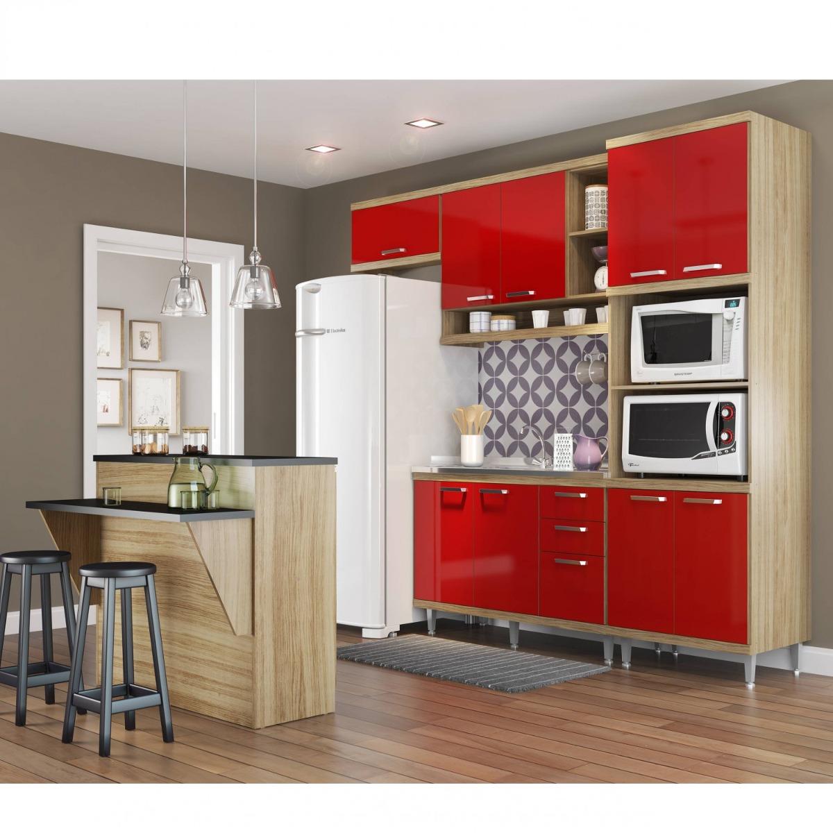 Cozinha Completa Com Bancada E Balc O Sem Tampo 5 Dd R 1 879 90