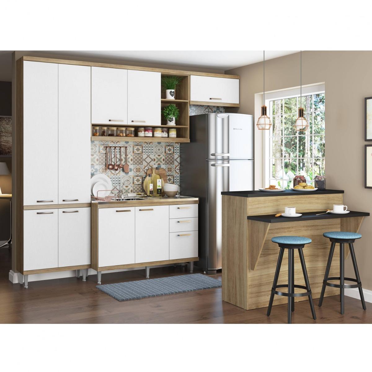 Cozinha Completa Com Bancada E Balc O Sem Tampo 5 Ed R 1 849 90