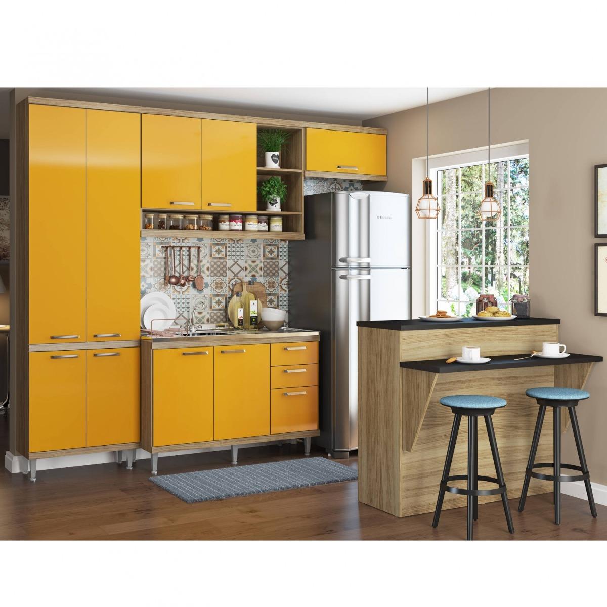 Cozinha Completa Com Bancada E Balc O Sem Tampo 5 Egwt R 1 775 90