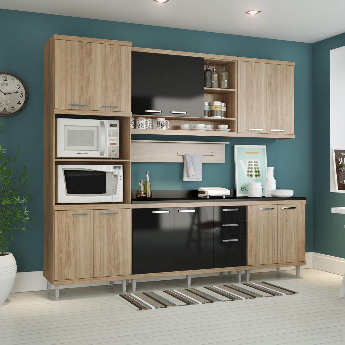 Cozinha Completa Com Tampo 12 Portas 7 Pe As Sic Lia E R 1 999 90