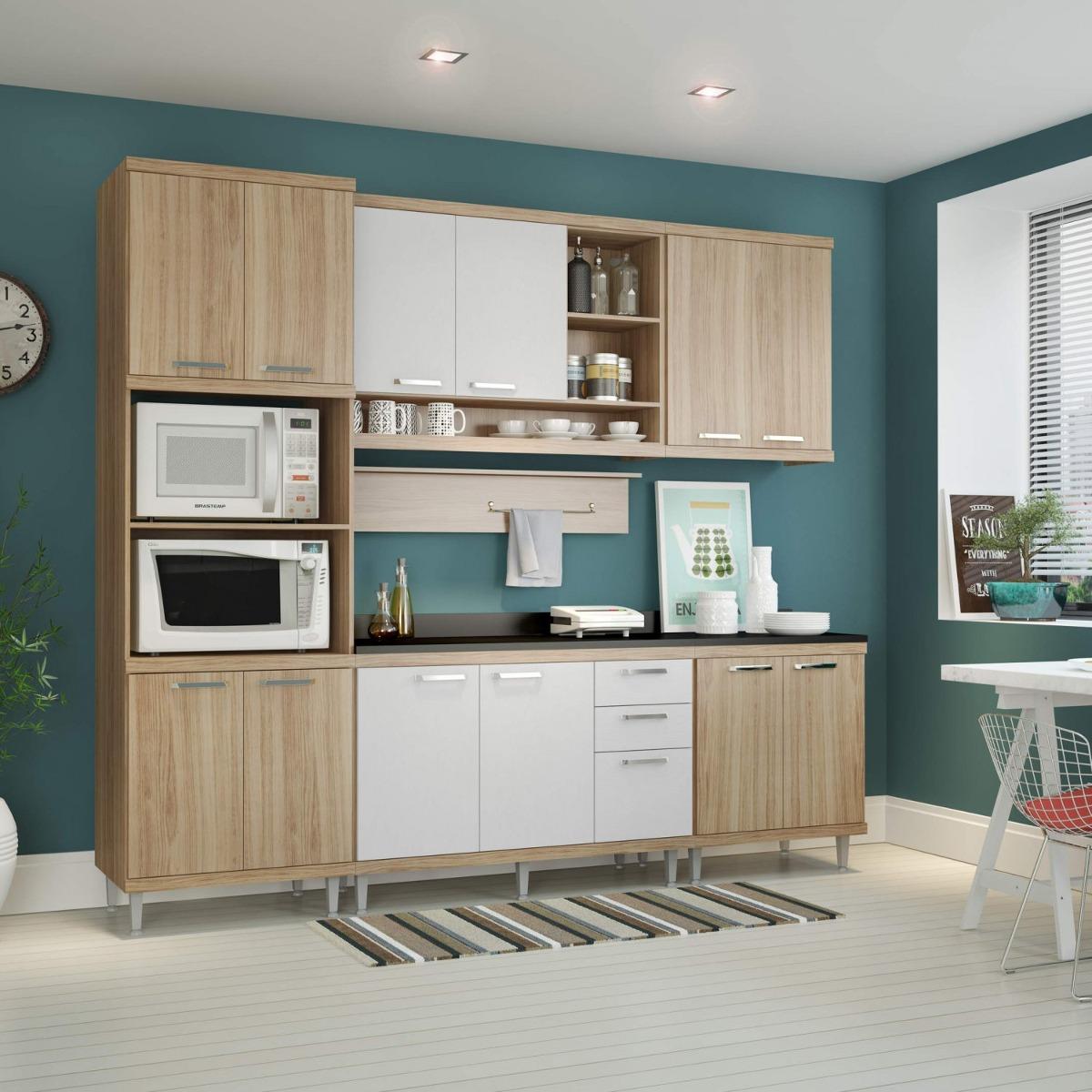 Cozinha Completa Com Tampo 12 Portas 7 Pe As Sic Lia F R 1 999 90