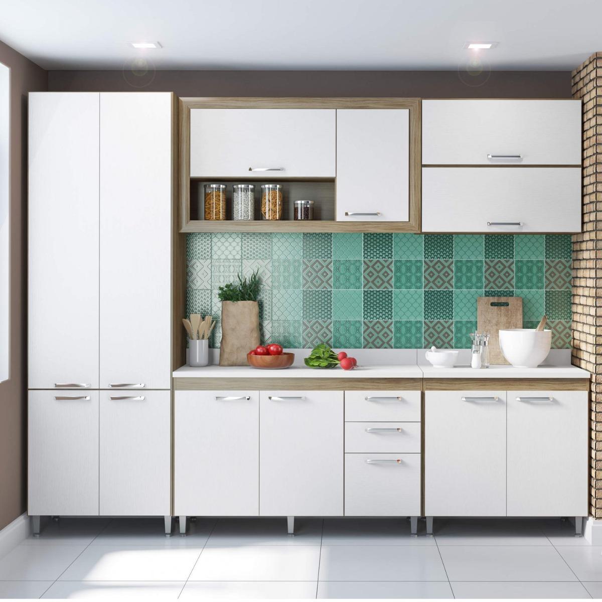 Cozinha Completa Com Tampo 12 Portas 7 Pe As Toscana Hjwt R 1 689