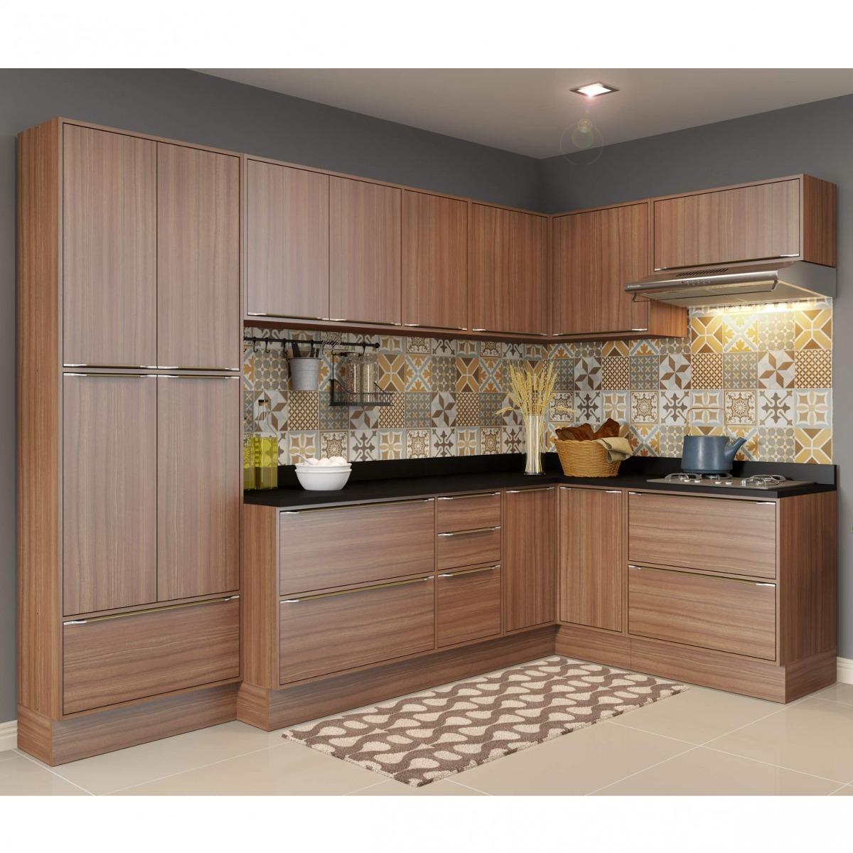 Cozinha Completa Com Tampo 16 Portas 12 Pe As Gh R 2 699 90 Em