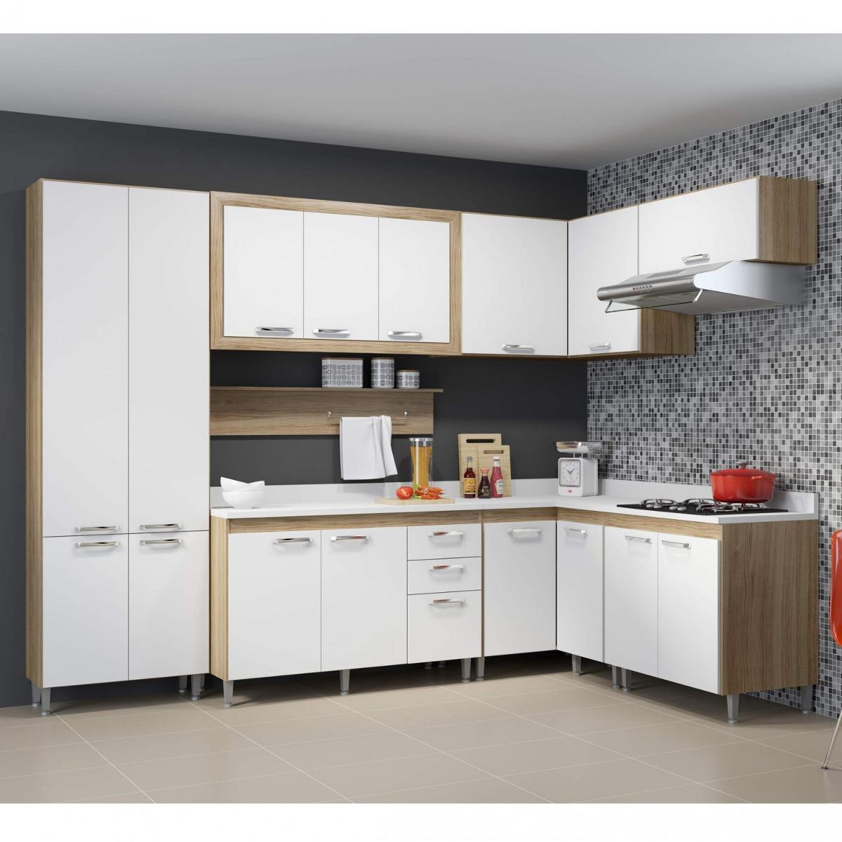 Cozinha Completa Com Tampo 16 Portas 9 Pe As Toscana He R 2 299