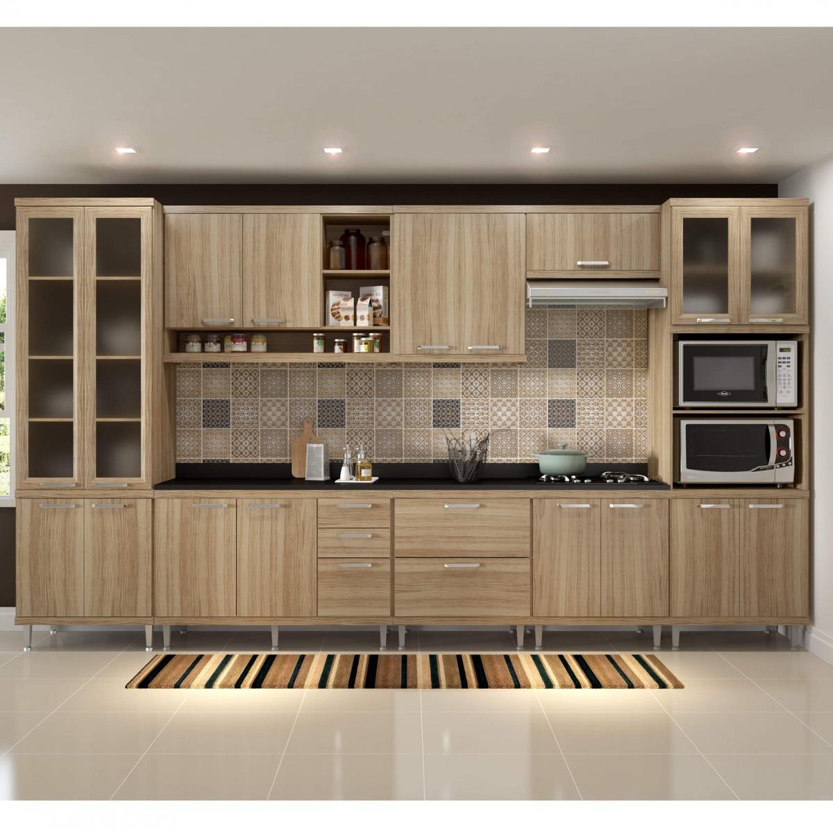 Cozinha Completa Com Tampo 17 Portas 9 Pe As Sic Lia A R 3 299 90