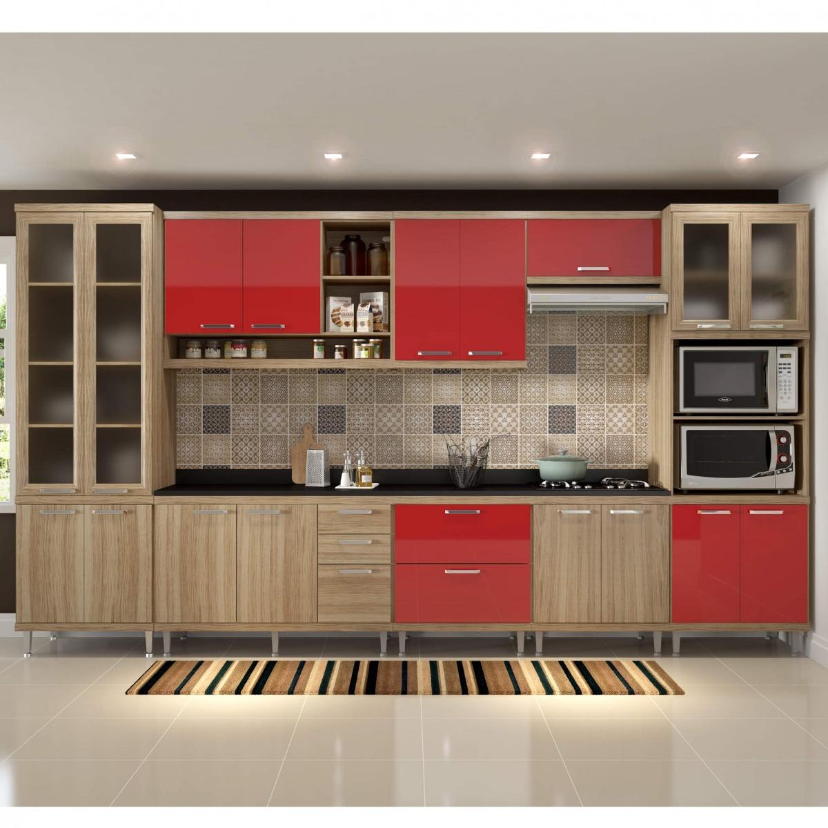 Cozinha Completa Com Tampo 17 Portas 9 Pe As Sic Lia B R 3 299 90