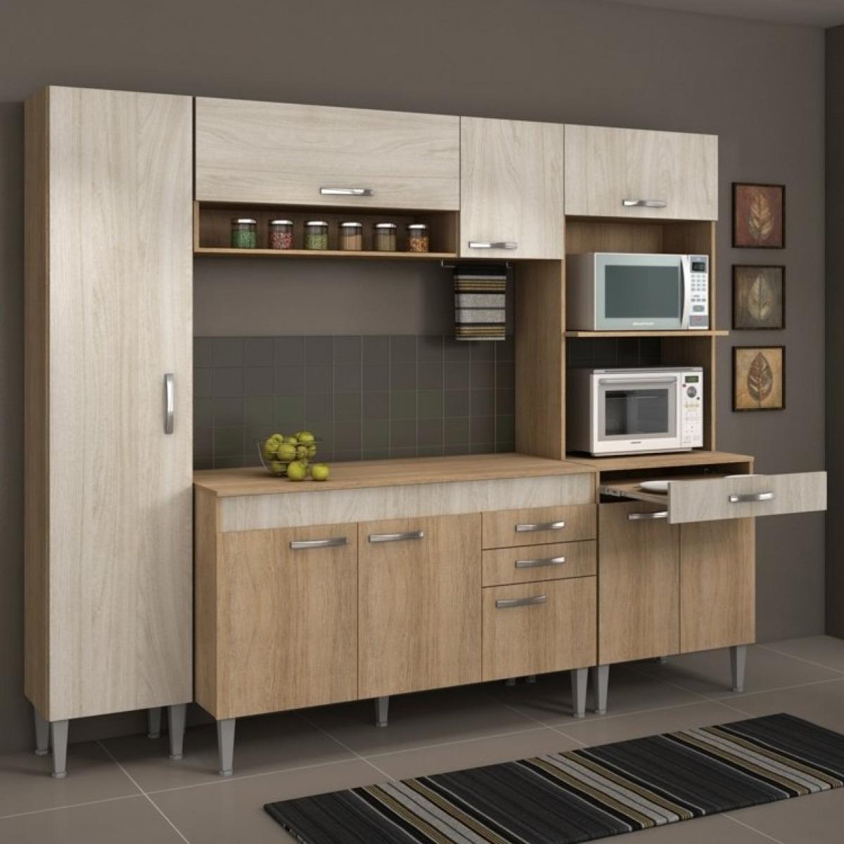 Cozinha Completa Com Tampo 4 Pe As 9 Portas Classic Ecwt R 815 90