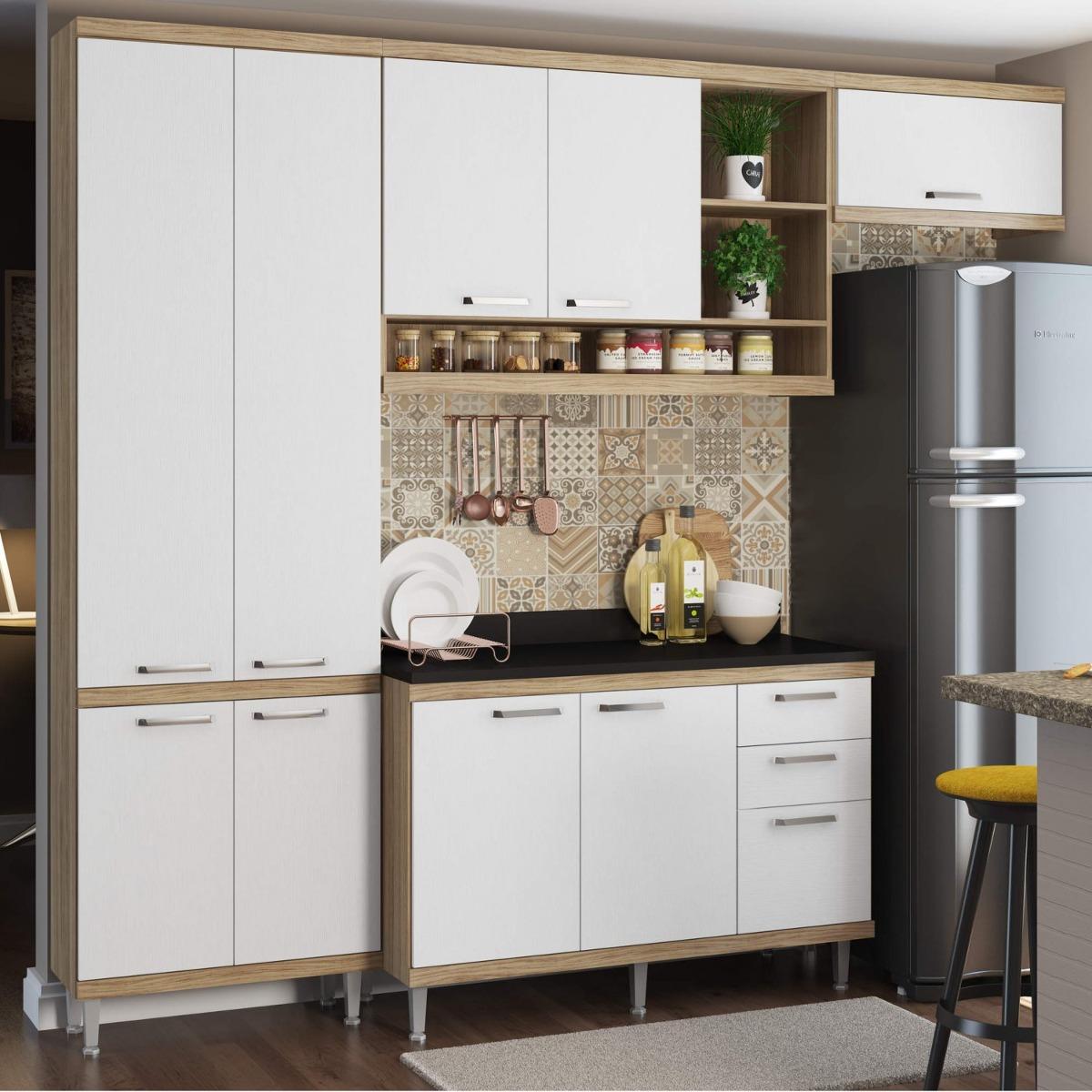 Cozinha Completa Com Tampo 9 Portas 5 Pe As Sic Lia Bh R 1 499 90