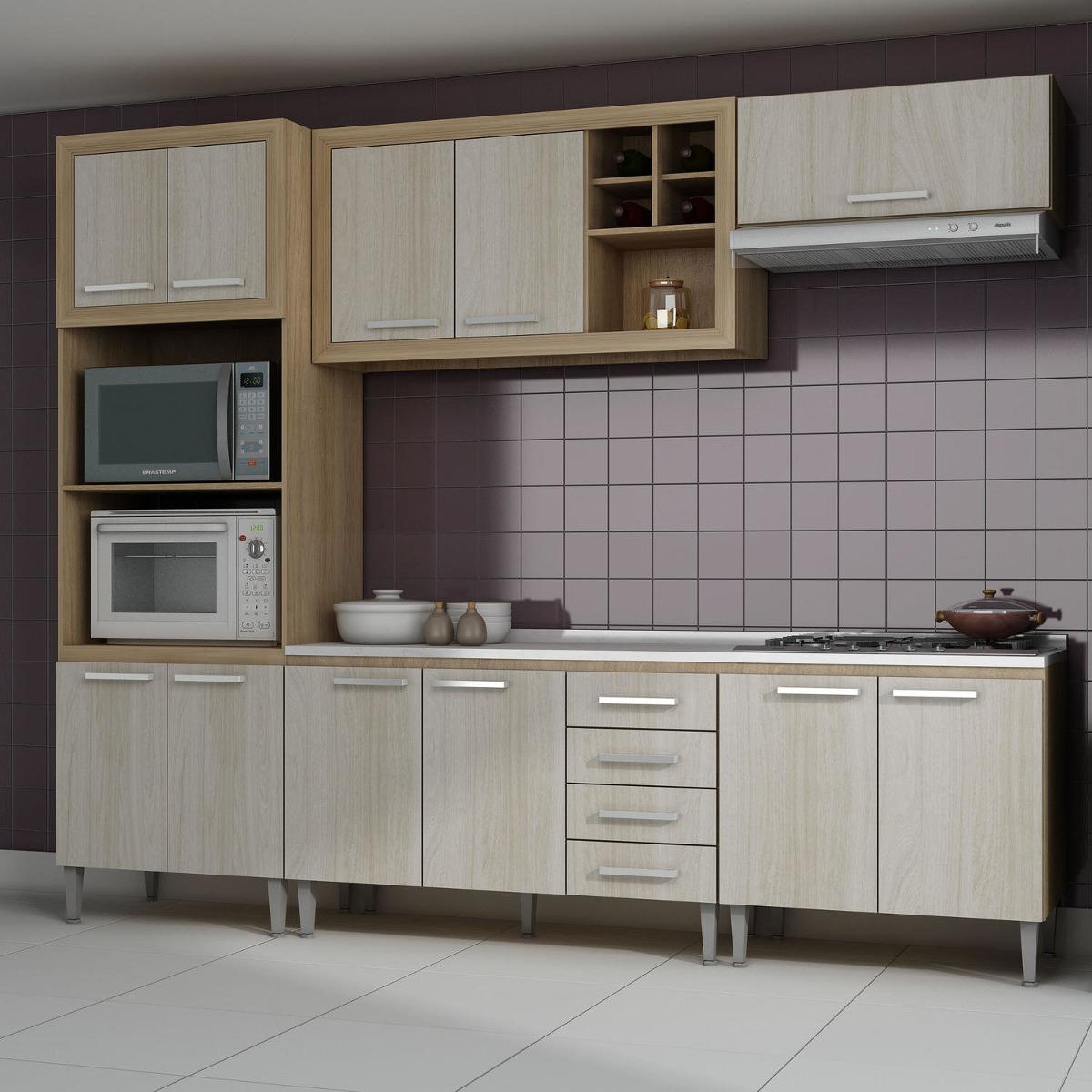 Cozinha Completa Com Tampo Style 11 Portas Fellicci Dd R 1 379 90