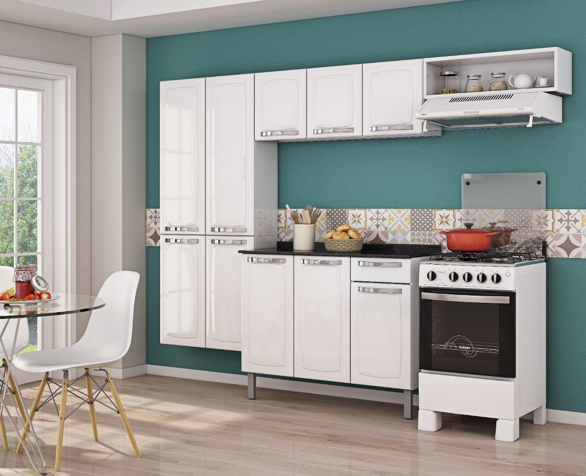 Cozinha Completa De A O Com Balc O Itatiaia Rose Branca R 659