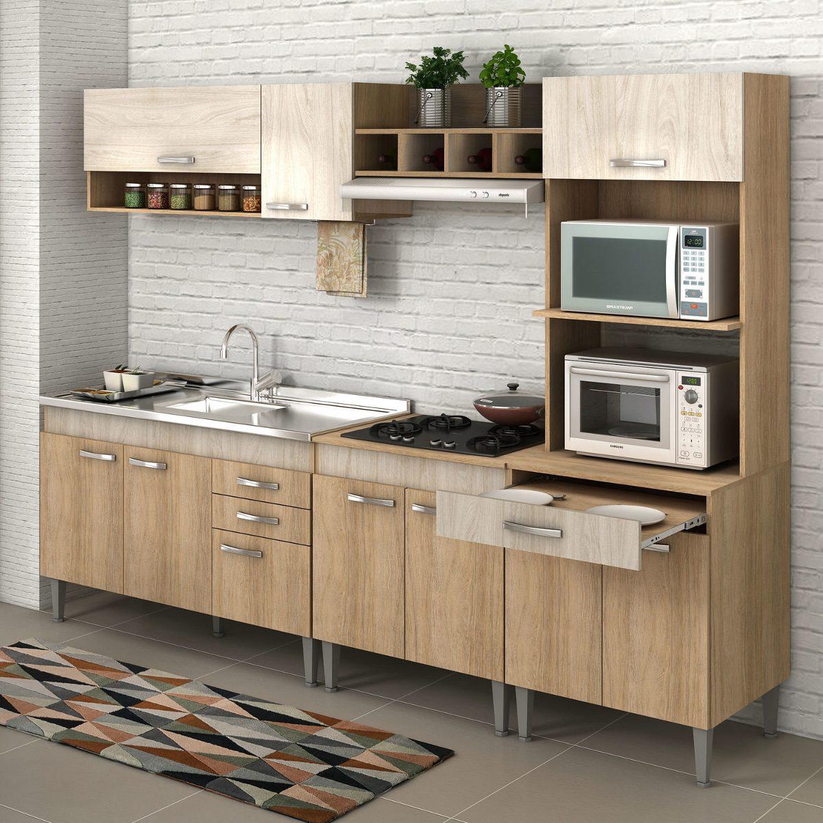 Cozinha Completa Flex Sem Tampo Classic 10 Portas Edwt R 815 90