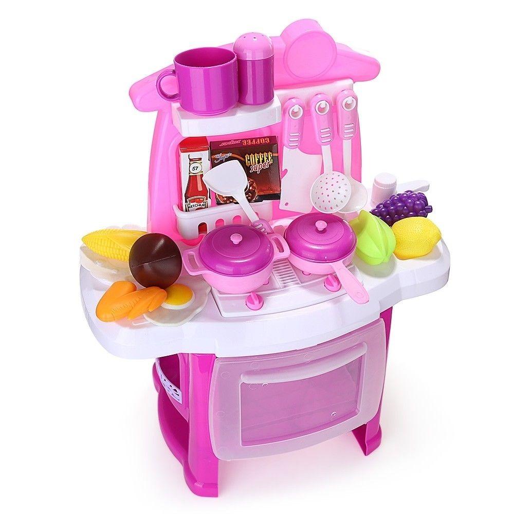 Cozinha Completa Infantil Luz E Som Kitchen Cook Rosa R 129 90 Em