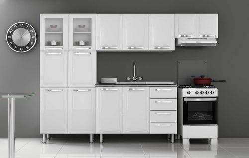cozinha completa itatiaia criativa aço 4 peças branco/preto