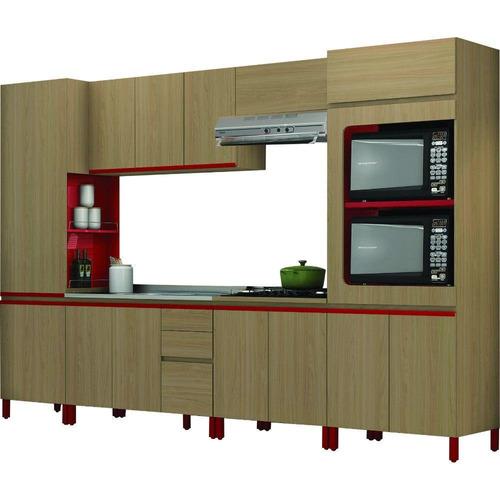 cozinha completa kappesberg mdp 13 portas 3 gavetas 6 peças