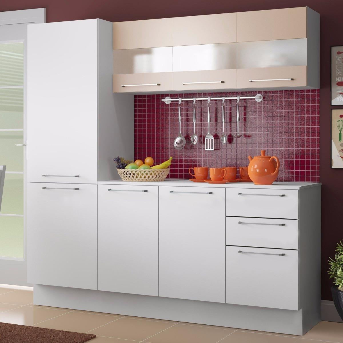 Cozinha Completa Lara Madesa Branco Crema Dj R 649 90 Em Mercado