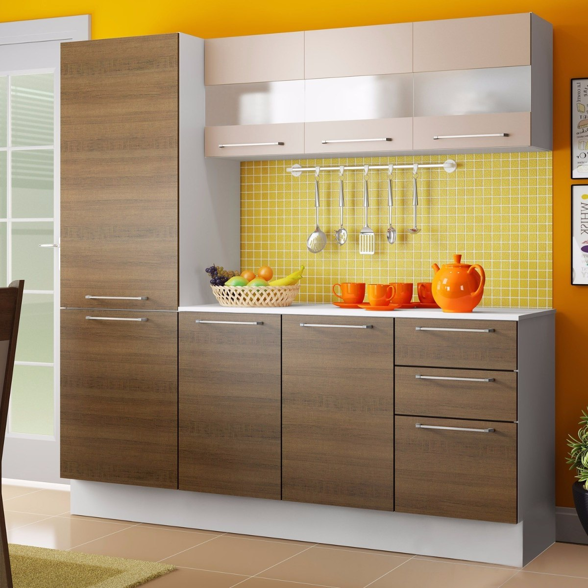 Cozinha Completa Lara Madesa Branco Rustic Crema Ea R 649 90 Em