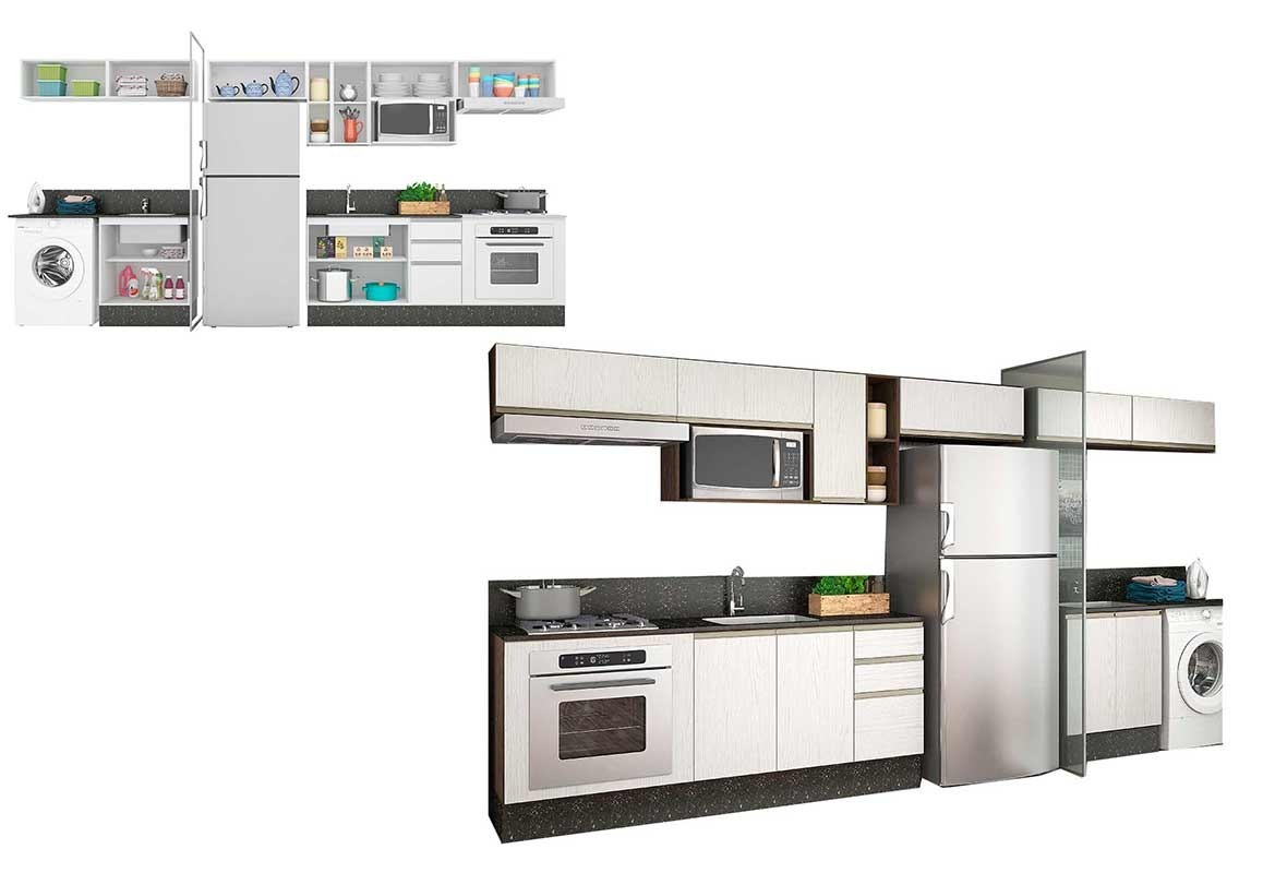 Cozinha Completa Lavanderia Nicioli Am Ndoa Branco Aud Cia R