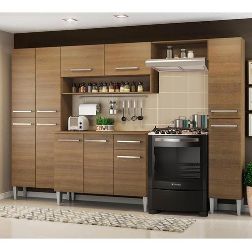 cozinha completa madesa emilly com armário e balcão