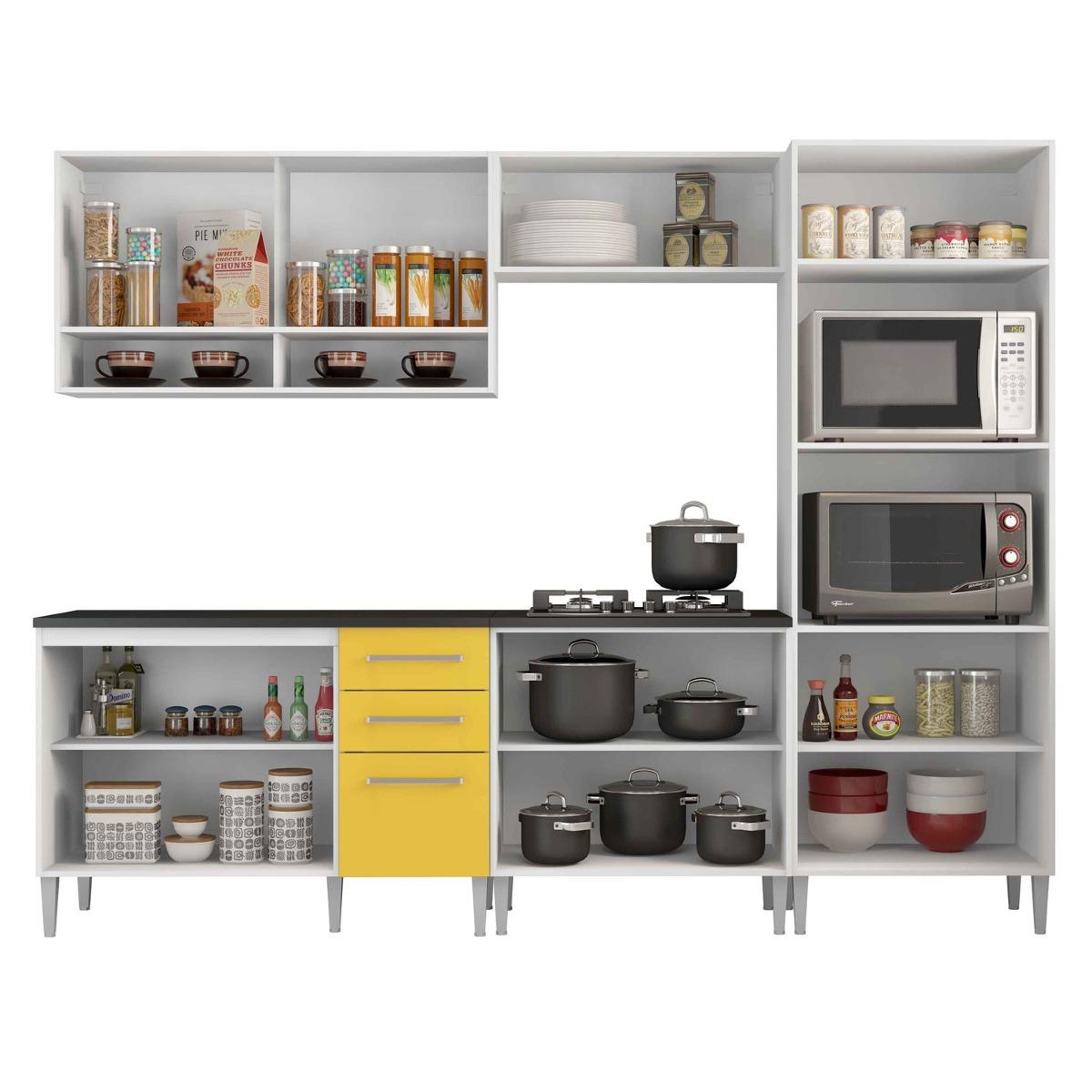 Cozinha Completa Madesa Glamy Elis Orqu Dea Sem Tampo R 1 297 50