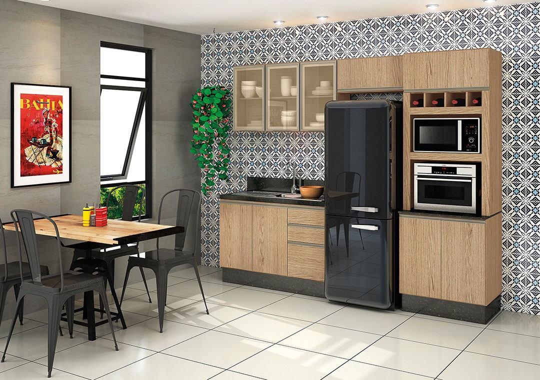 Jogo De Cozinha Completa 04 Pe As Mdf Kali Modula Nicioli R 1 290