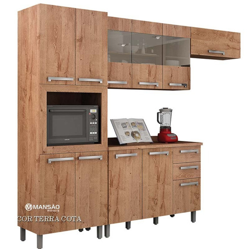 cozinha completa, modelo ouro valdemoveis - montagem grátis