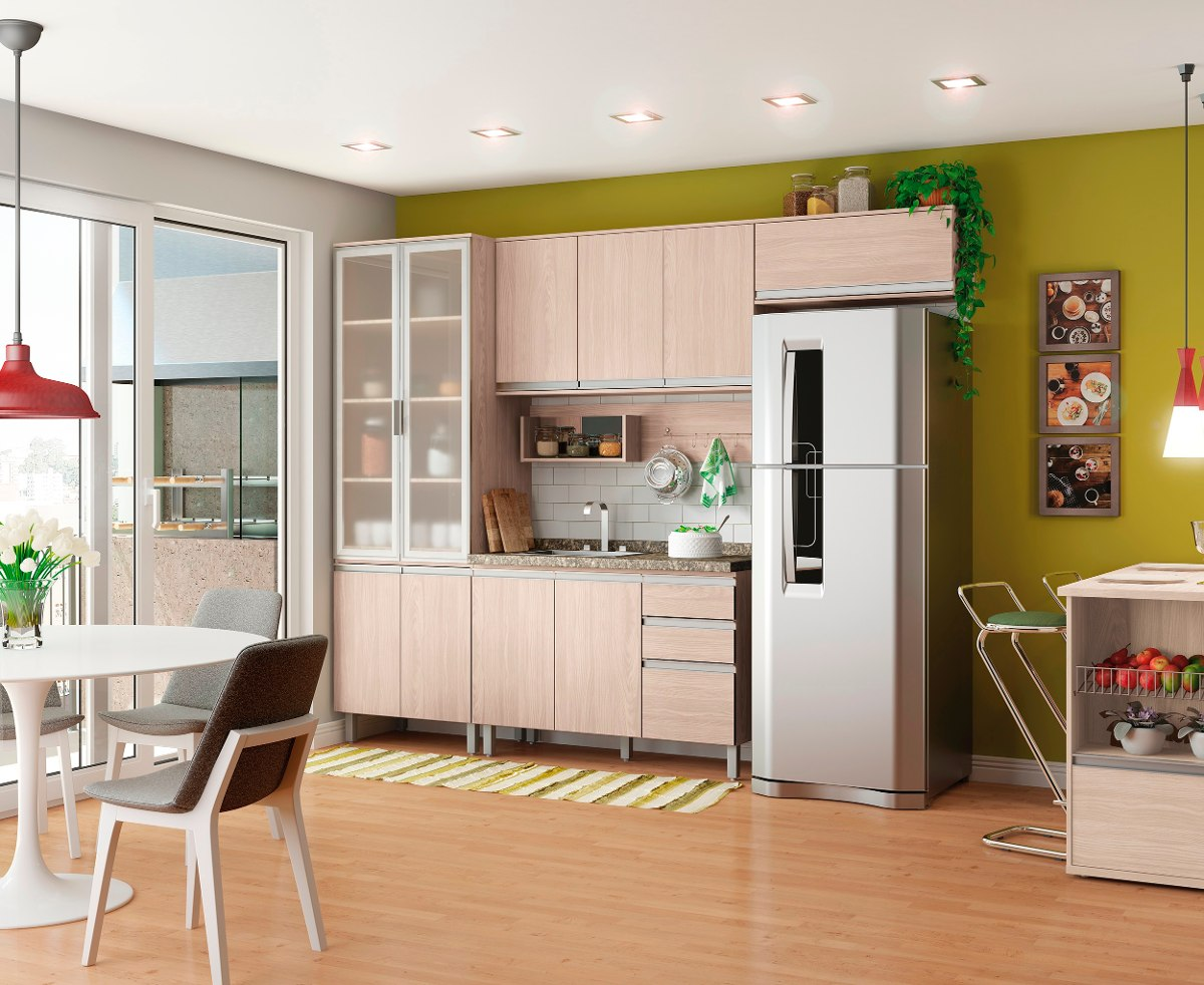 Cozinha Completa Modulada 05 Pe As Connect Fendi Henn R 1 889