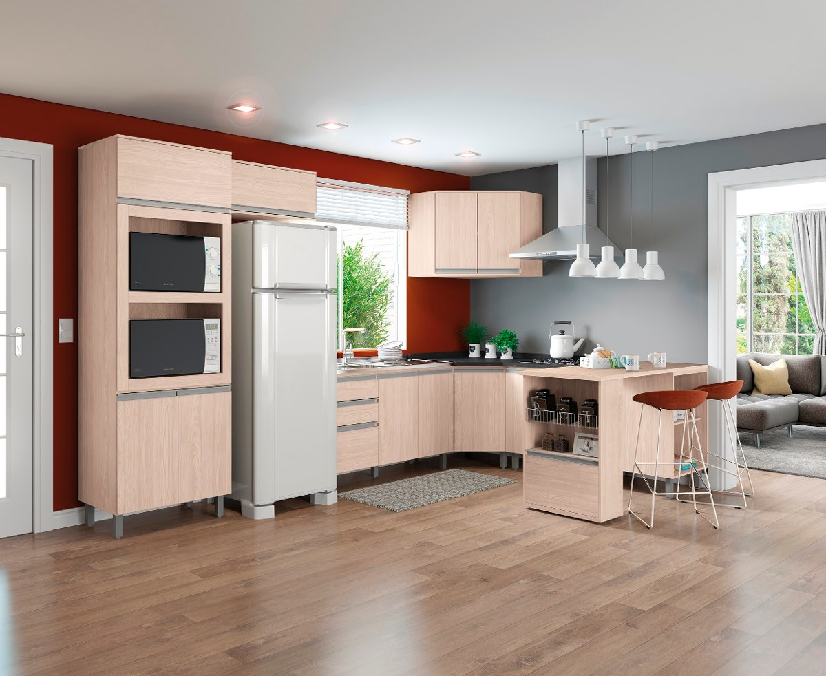 Cozinha Completa Modulada 09 Pe As Connect Fendi Henn R 2 819