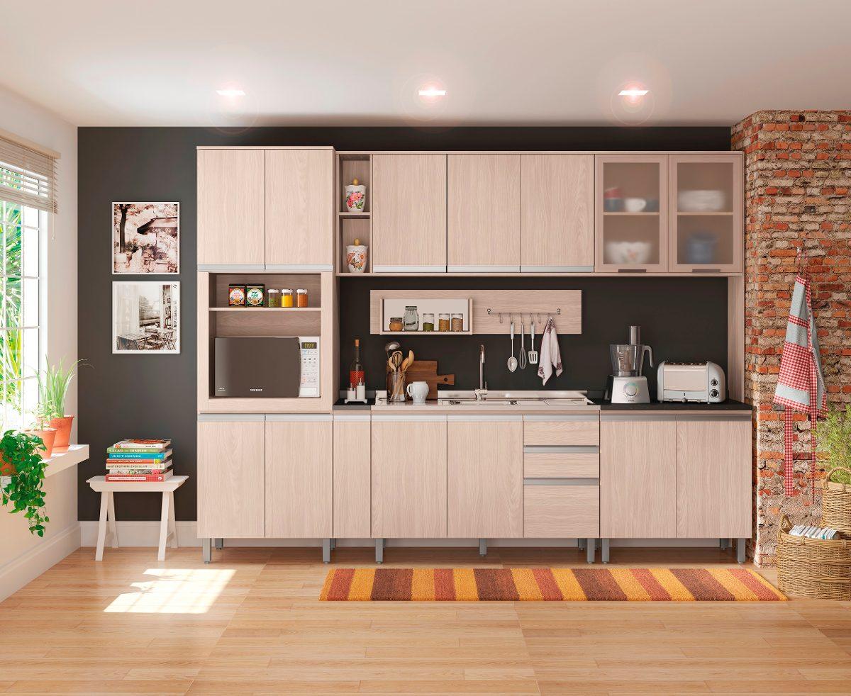 Cozinha Completa Modulada 10 Pe As Connect Fendi Henn R 2 389