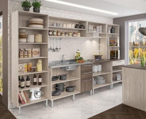 d46c119114 Cozinha Completa Modulada Lia 14 Portas E 4 Gavetas - Elmo - R ...