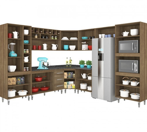 cozinha completa modulada monaliza terraro movemax 9 peças