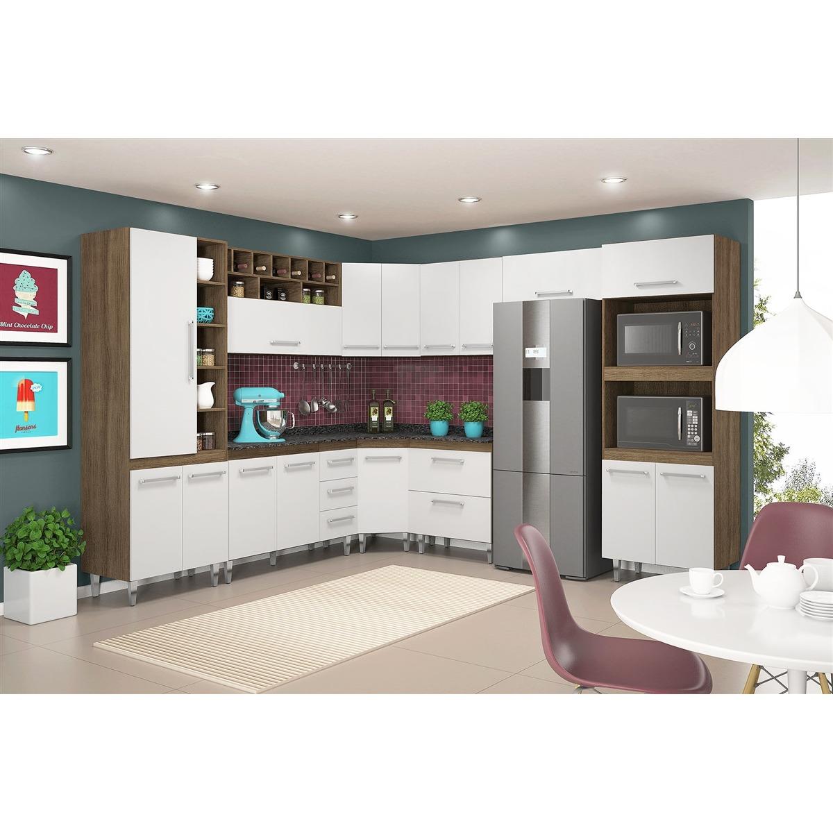 Cozinha Completa Modulada Terraro Branco 9 Pe As Movemax R 1 899