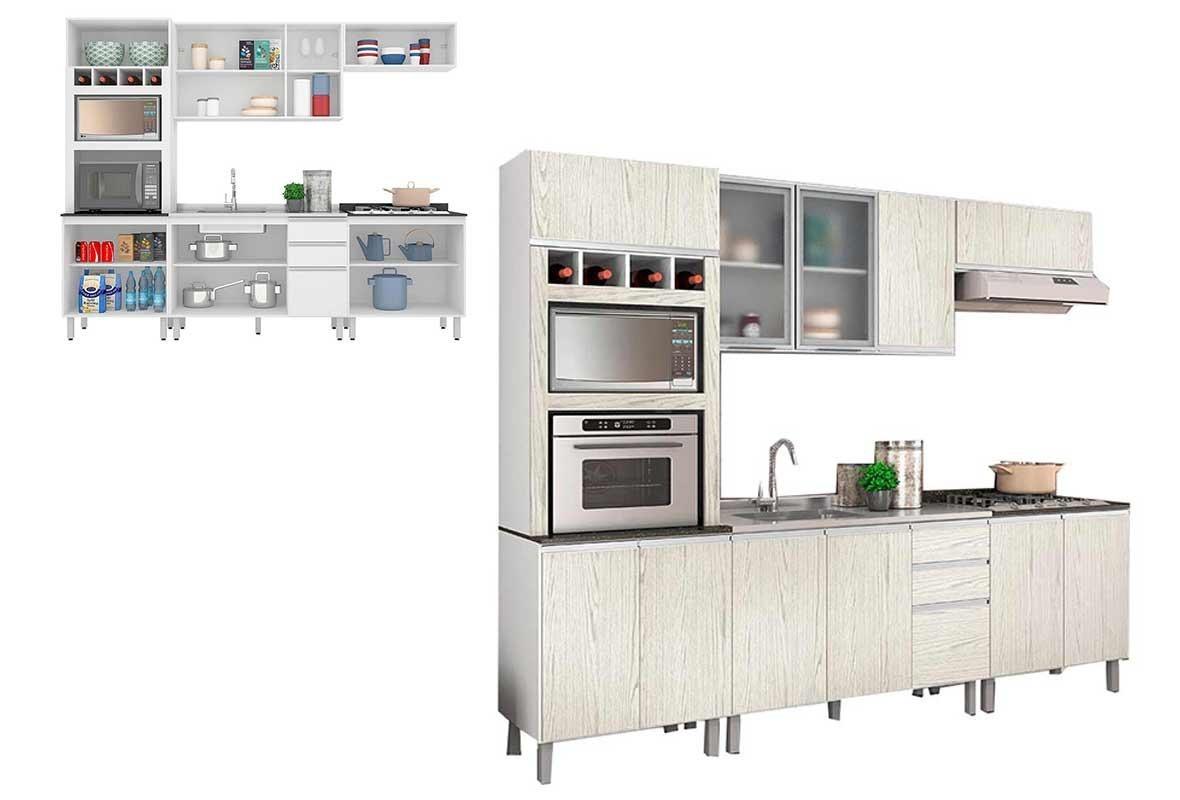 Cozinha Completa Nicioli Branco Arezzo Ebani R 1 649 90 Em