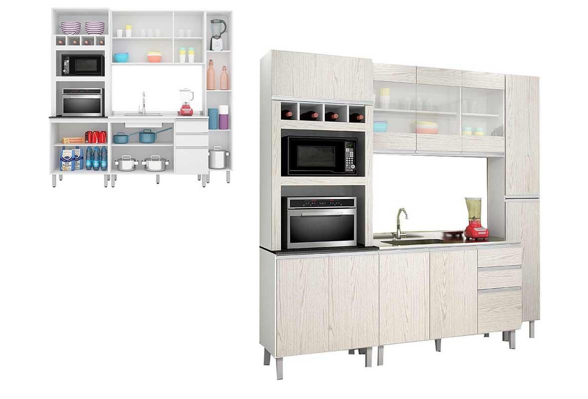 Cozinha Completa Nicioli Branco Arezzo Malu R 1 436 90 Em Mercado