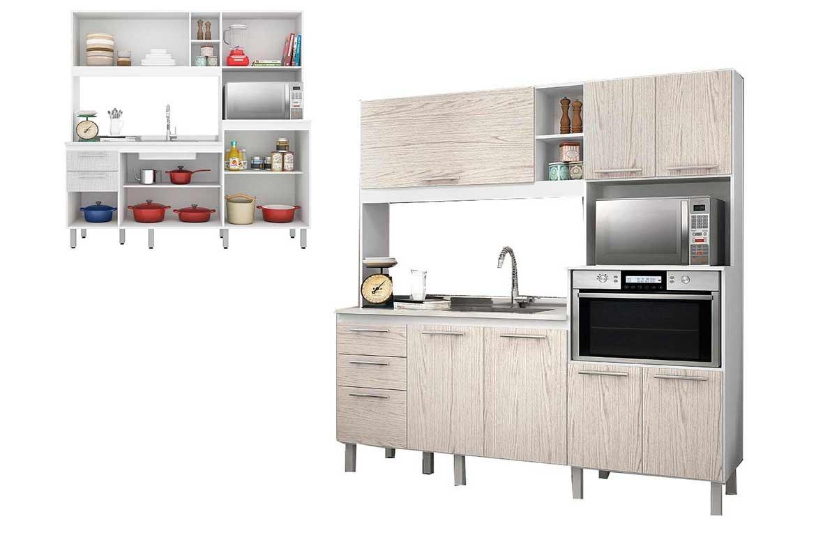 Cozinha Completa Nicioli Branco Arezzo Piat Ii R 753 90 Em