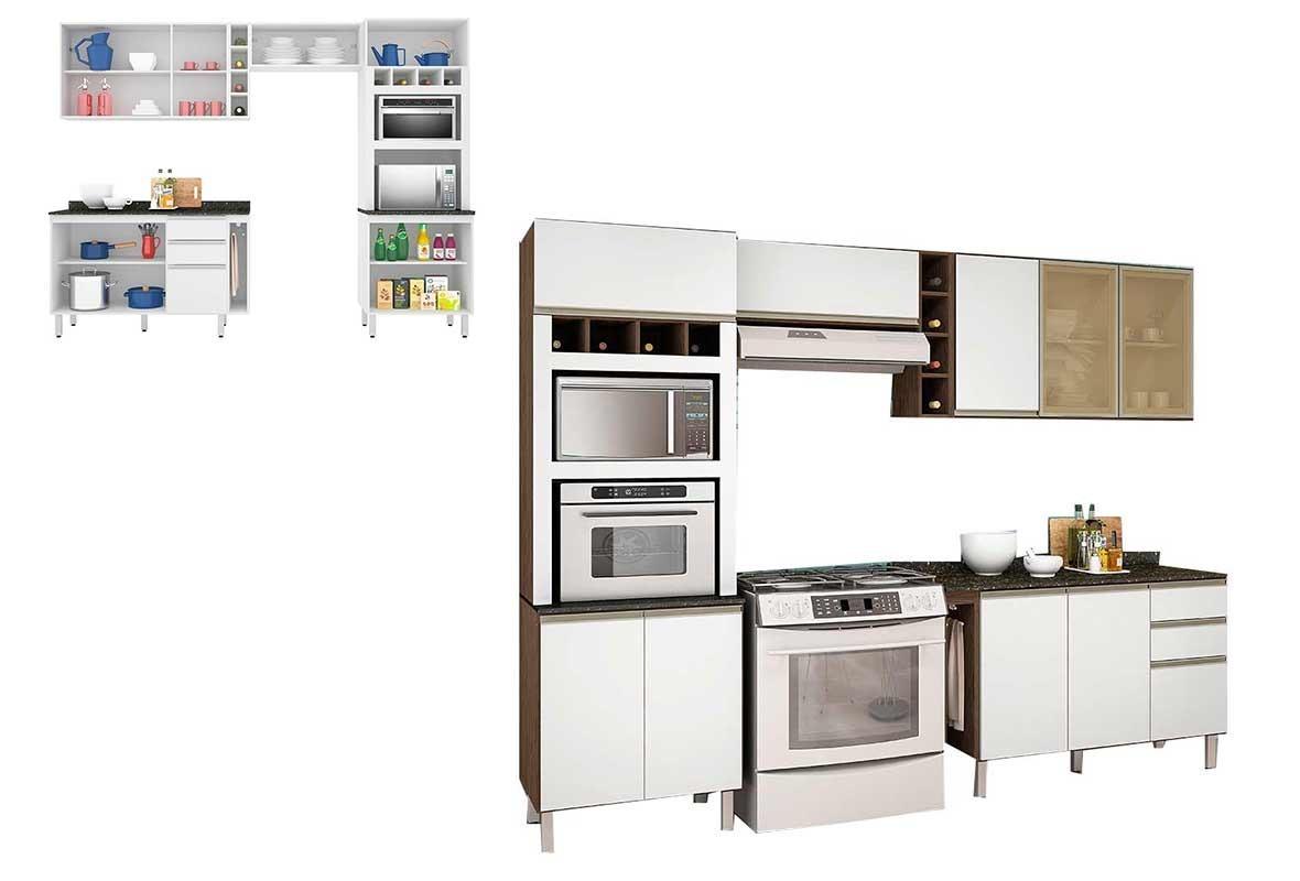 Cozinha Completa Nicioli Branco Carvalho Melissa R 1 763 90 Em