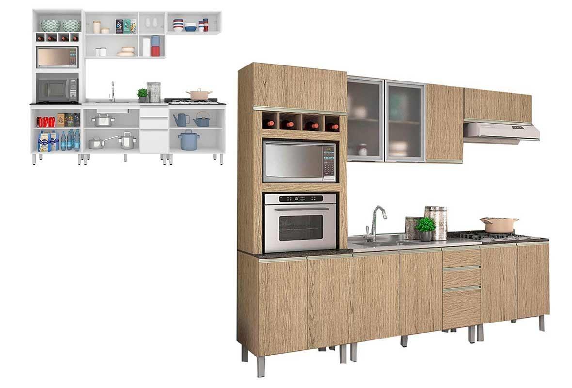 Cozinha Completa Nicioli Carvalho Ebani R 1 649 90 Em Mercado Livre
