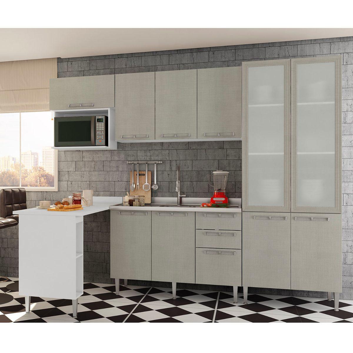 Cozinha Completa Pyxis Nude Bc R 1 889 90 Em Mercado Livre