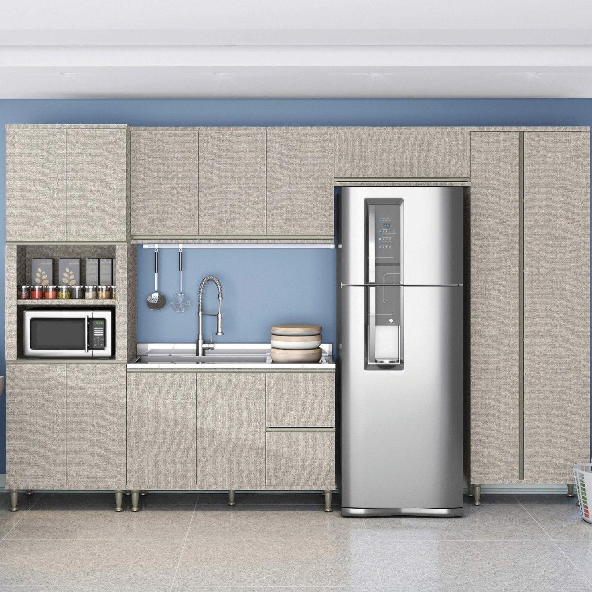 Cozinha Completa Sem Tampo 5 Pe As 12 Portas N O Fi R 1 739 90
