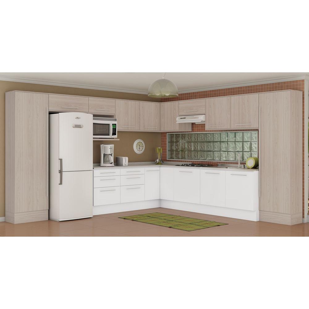 Cozinha Completa Unique Carvalle Branco Kappesberg R 3 508 00