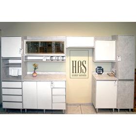 Cozinha Confort 7 Peças Branca/concreto