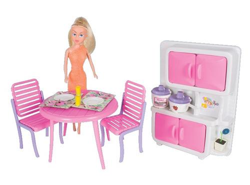 cozinha copa sonho de princesas acessórios e boneca!