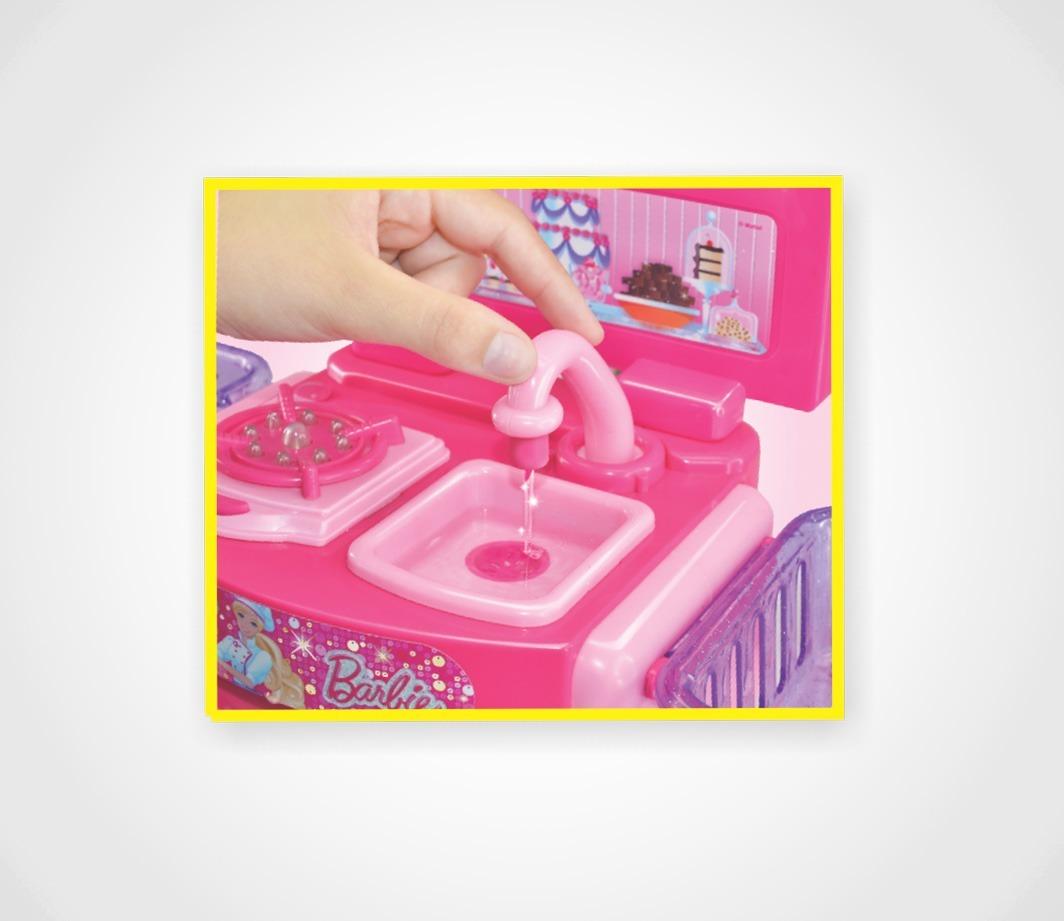 Cozinha Da Barbie Infantil Fashion Chef Completa Rosa R 77 00 Em