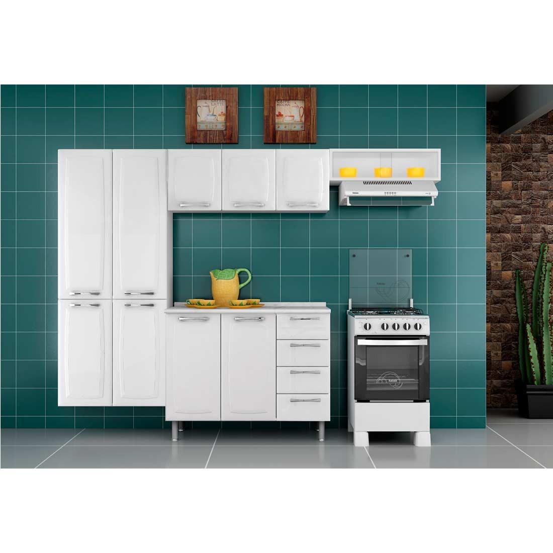 Cozinha De A O Itatiaia Anita Smart 3 Pe As Branca R 533 90 Em