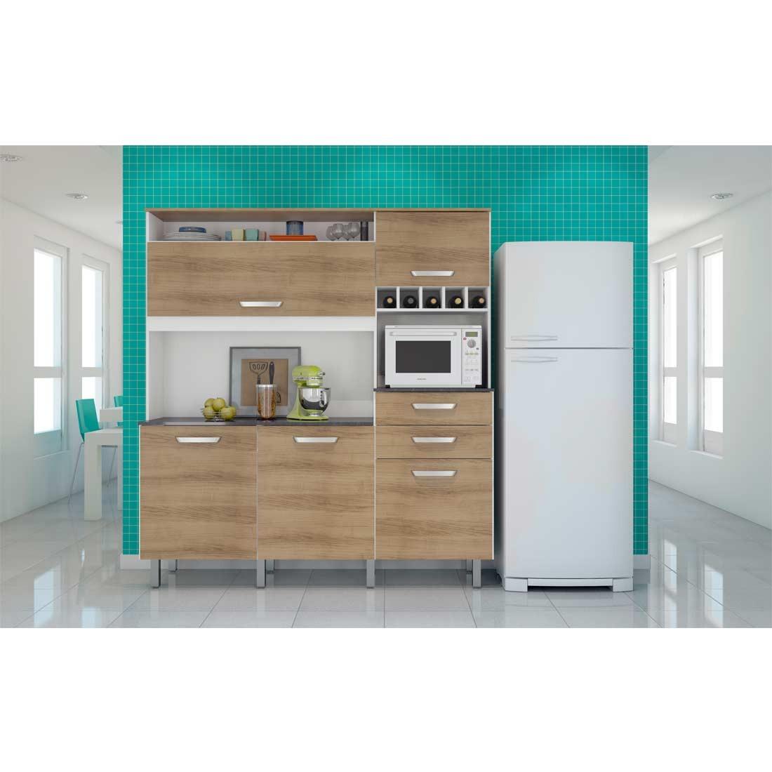 Cozinha Diva Smart Com 5 Portas Branco E Avel Nesher R 949 90