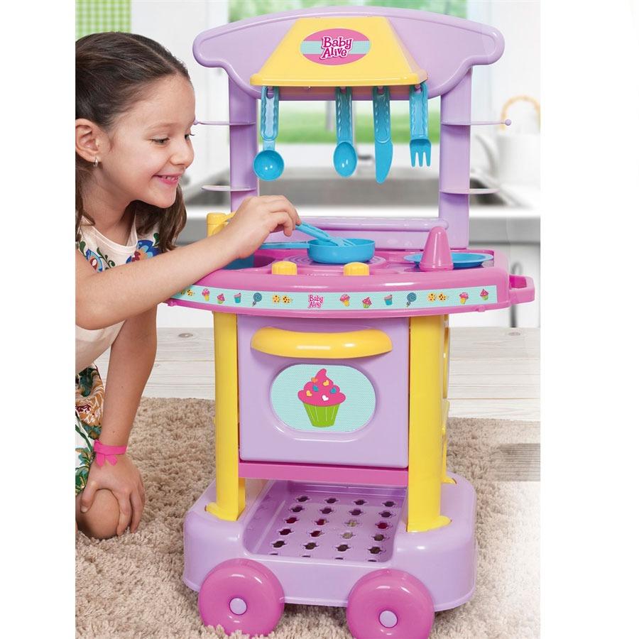 Cozinha Divertida Completa Baby Alive Cotiplas R 92 99 Em Mercado