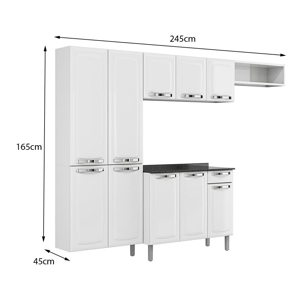 Cozinha Em A O Completa Rose Branca Itatiaia M Veis R 941 99 Em