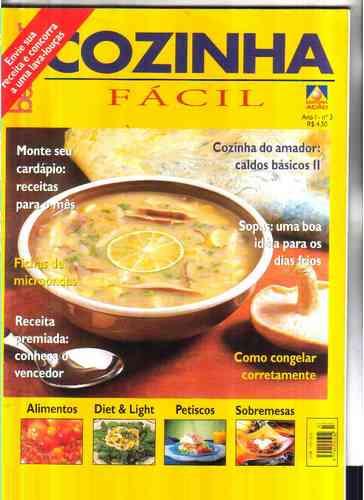 cozinha fácil nrs 3 e 4 - r$ 11.00 as 2 revistas